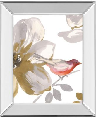 "Bird Chatter I by Sandra Jacobs Mirror Framed Print Wall Art, 22"" x 26"""