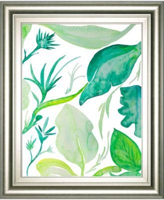 "Green Water Leaves II by Kat Papa Framed Print Wall Art, 22"" x 26"""