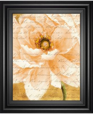 "Beautiful Cream Peonies Script I by Patricia Pinto Framed Print Wall Art, 22"" x 26"""