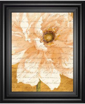 "Beautiful Cream Peonies Script II by Patricia Pinto Framed Print Wall Art, 22"" x 26"""