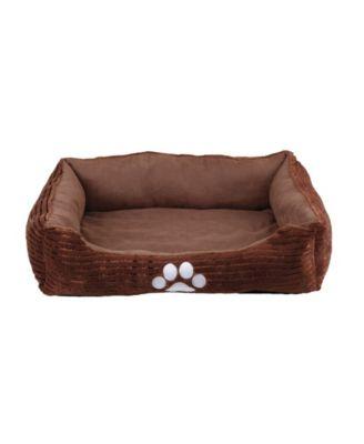 Orthopedic Rectangle Bolster Pet Bed, Dog Bed, Super Soft Plush