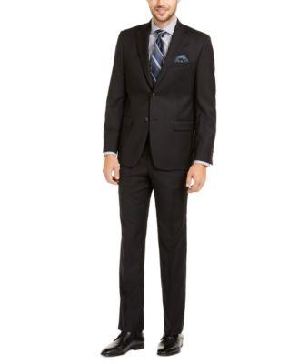 Men's Slim-Fit UltraFlex Stretch Black Solid Suit Jacket