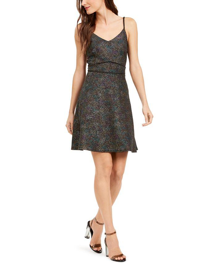 Monteau - Petite Fit & Flare Shine Dress