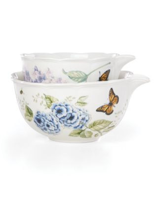 Butterfly Meadow Kitchen Set/2 Mixing Bowls, Created for Macy's