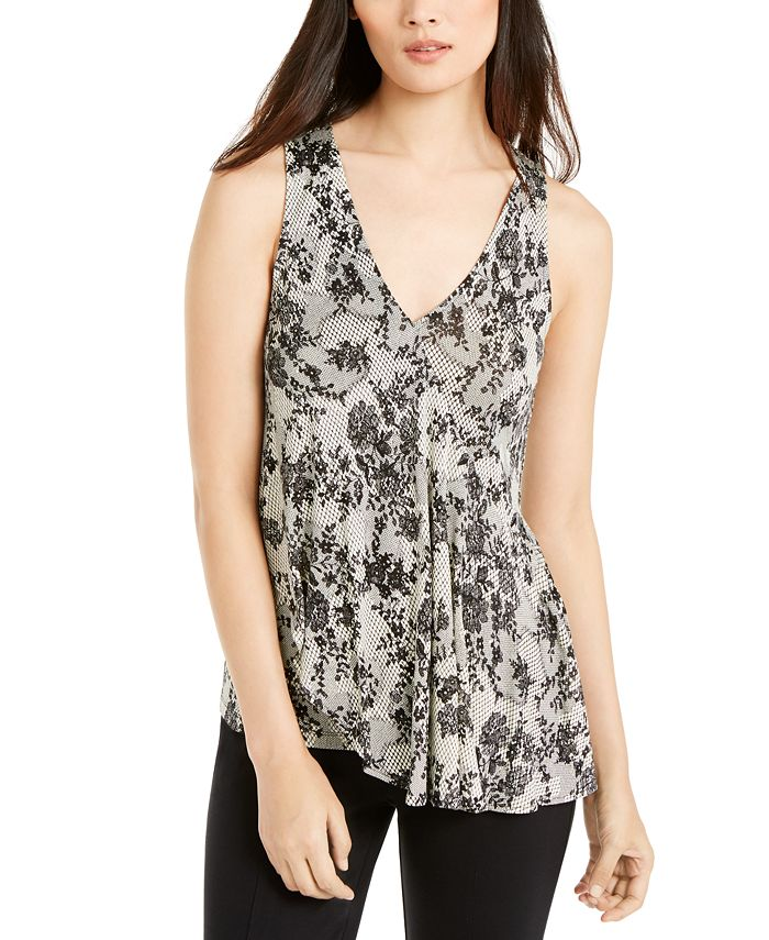 Michael Kors - Lace-Print Top, Regular & Petite