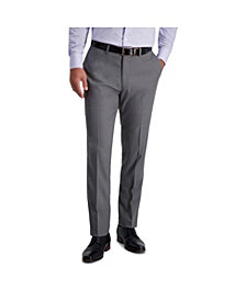 Louis Raphael Stretch Heather Skinny Fit Flat Front Suit Separate Pant
