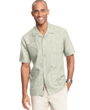 Cubavera Shirt Short Sleeved Guayabera Shirt $39.99 AT vintagedancer.com