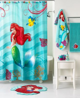 Mermaid bathroom decor home interior design - Little mermaid bathroom ideas ...