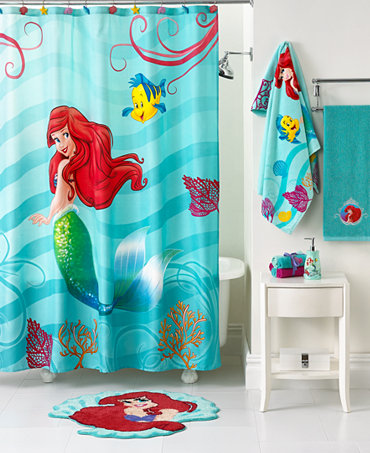 Disney bath little mermaid shimmer and gleam collection bathroom accessories bed bath - Little mermaid bathroom ideas ...
