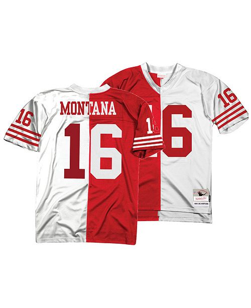 Mitchell Ness Men S Joe Montana San Francisco 49ers Home Away Split Legacy Jersey Reviews Sports Fan Shop By Lids Men Macy S