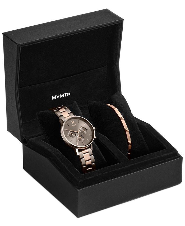 MVMT - Women's Chronograph Nova Orion Two-Tone Steel Bracelet Watch Set 38mm
