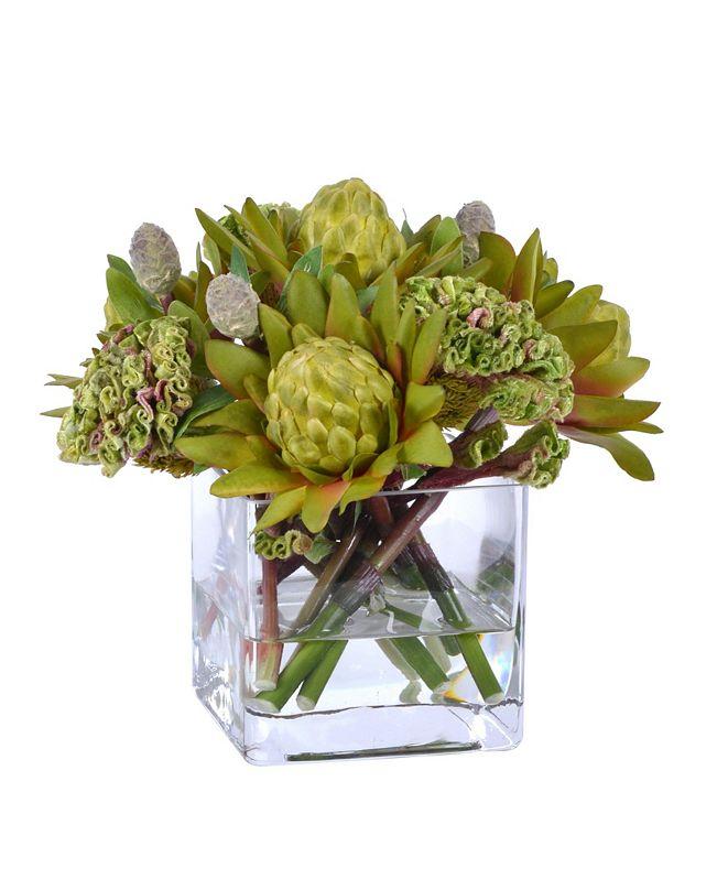 Winward Silks Permanent Botanicals Waratah in Vase