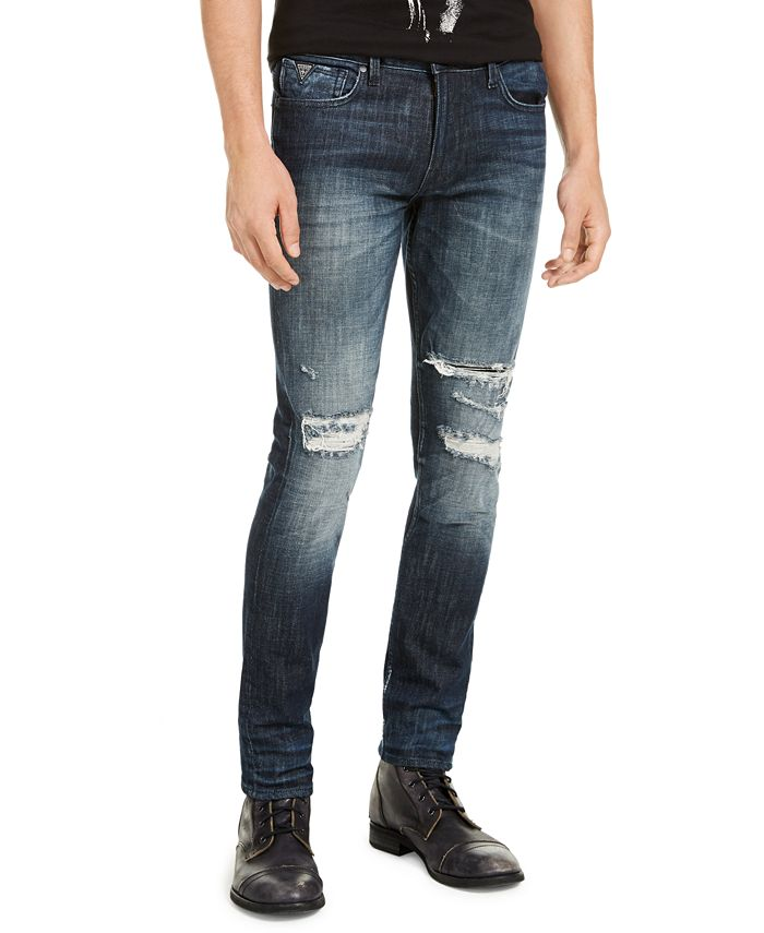 GUESS - Men's Ripped Skinny Jeans