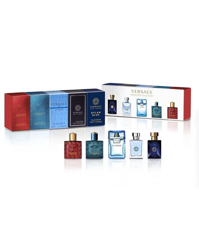 Versace Men's 5-Pc. Miniatures Gift Set, Created for Macy's