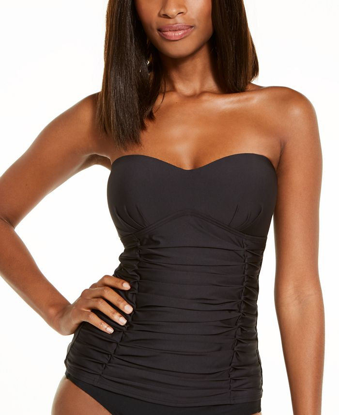 DKNY - Removable Strap Tankini Swimsuit Top