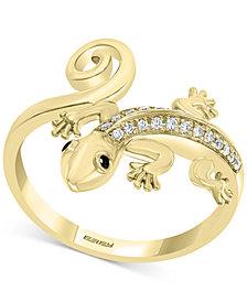 EFFY® Diamond Lizard Statement Ring (1/8 ct. t.w.) in 14k Gold