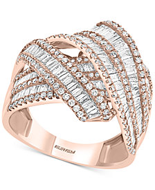 EFFY® Diamond Crossover Statement Ring (1-1/2 ct. t.w.) in 14k Rose Gold
