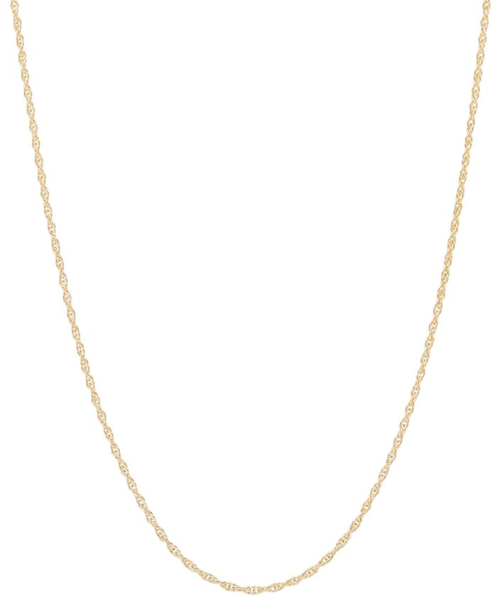 """Macy's - 14k Gold Necklace, 18"""" Light Rope Chain"""