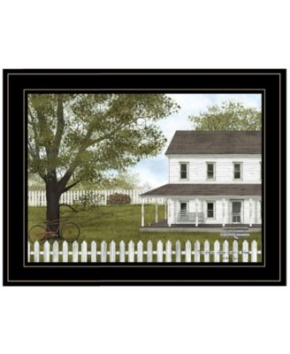 GREEN, GREEN GRASS OF HOME by Billy Jacobs, Ready to hang Framed Print, White Frame, 19
