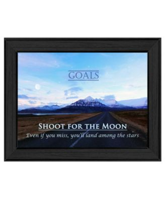 Goals By Trendy Decor4U, Printed Wall Art, Ready to hang, White Frame, 14