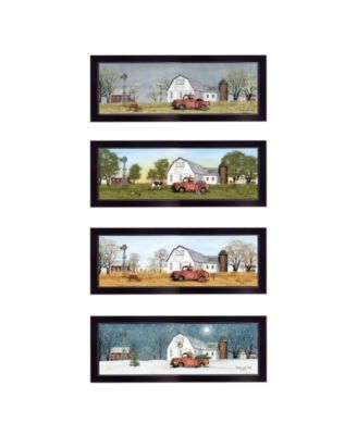 Billy Jacobs Four Seasons Collection V 4-Piece Vignette, Black Frame, 26