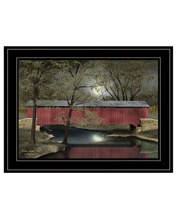"""Trendy Decor 4U Warm Summer's Eve by Billy Jacobs, Ready to hang Framed Print, Black Frame, 19"""" x 15"""""""