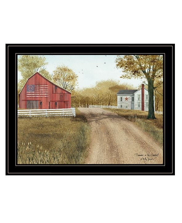 """Trendy Decor 4U Summer in the Country by Billy Jacobs, Ready to hang Framed Print, Black Frame, 27"""" x 21"""""""