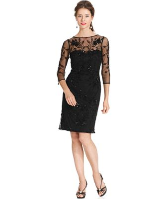 Cocktail Dresses Petite With Sleeves - Evening Wear