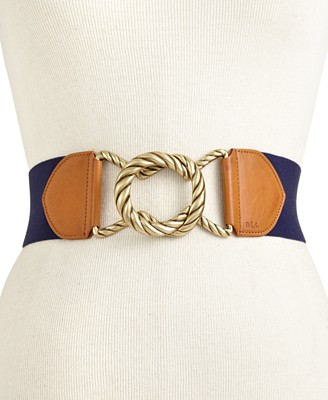 Lauren Ralph Lauren Stretch Rope Buckle Belt