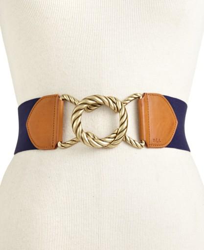 Lauren Ralph Lauren Stretch Rope Buckle Belt