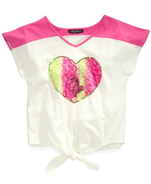 Baby Phat Kids Shirt Little Girls Graphic TieFront Tee