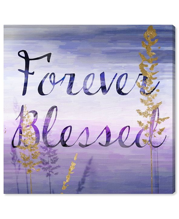 "Oliver Gal Forever Blessed Lilac Canvas Art, 16"" x 16"""