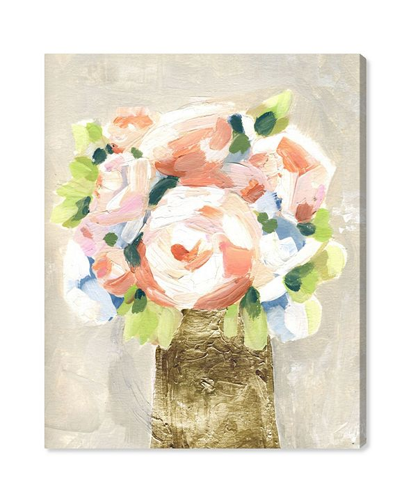 """Oliver Gal Coral Peonies Canvas Art, 24"""" x 28"""""""