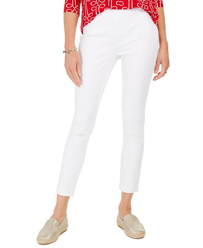 Charter Club - Chelsea Twill Tummy-Control Cropped Pants