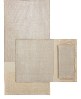 Dansk Table Linens, Pieced Shimmer Napkin
