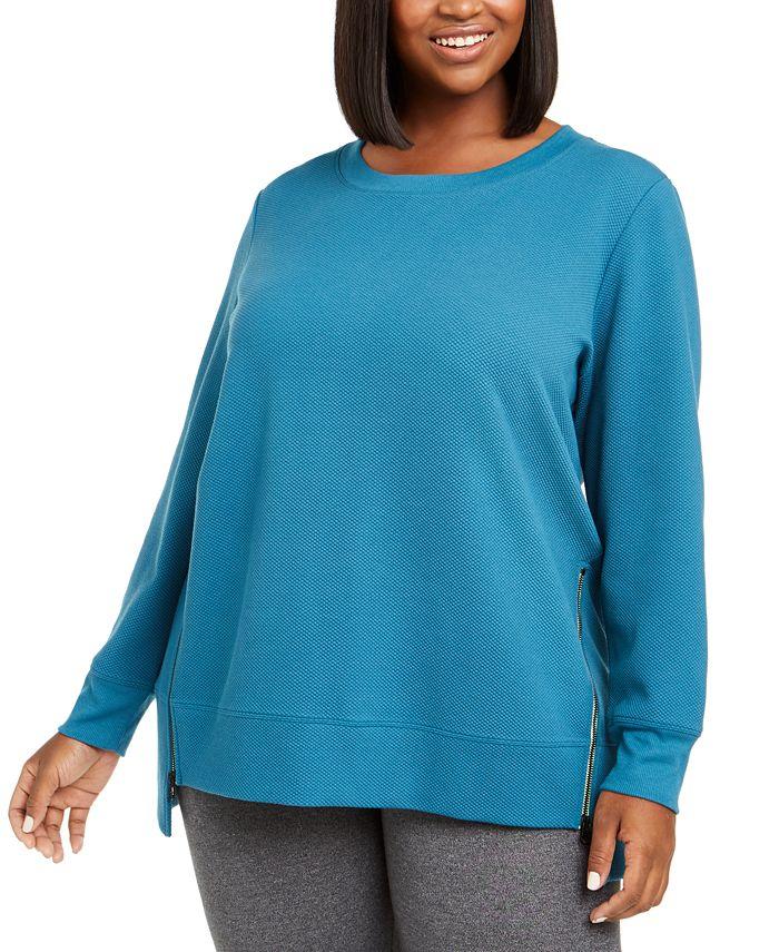 Ideology - Plus Size Side-Zipper Sweatshirt