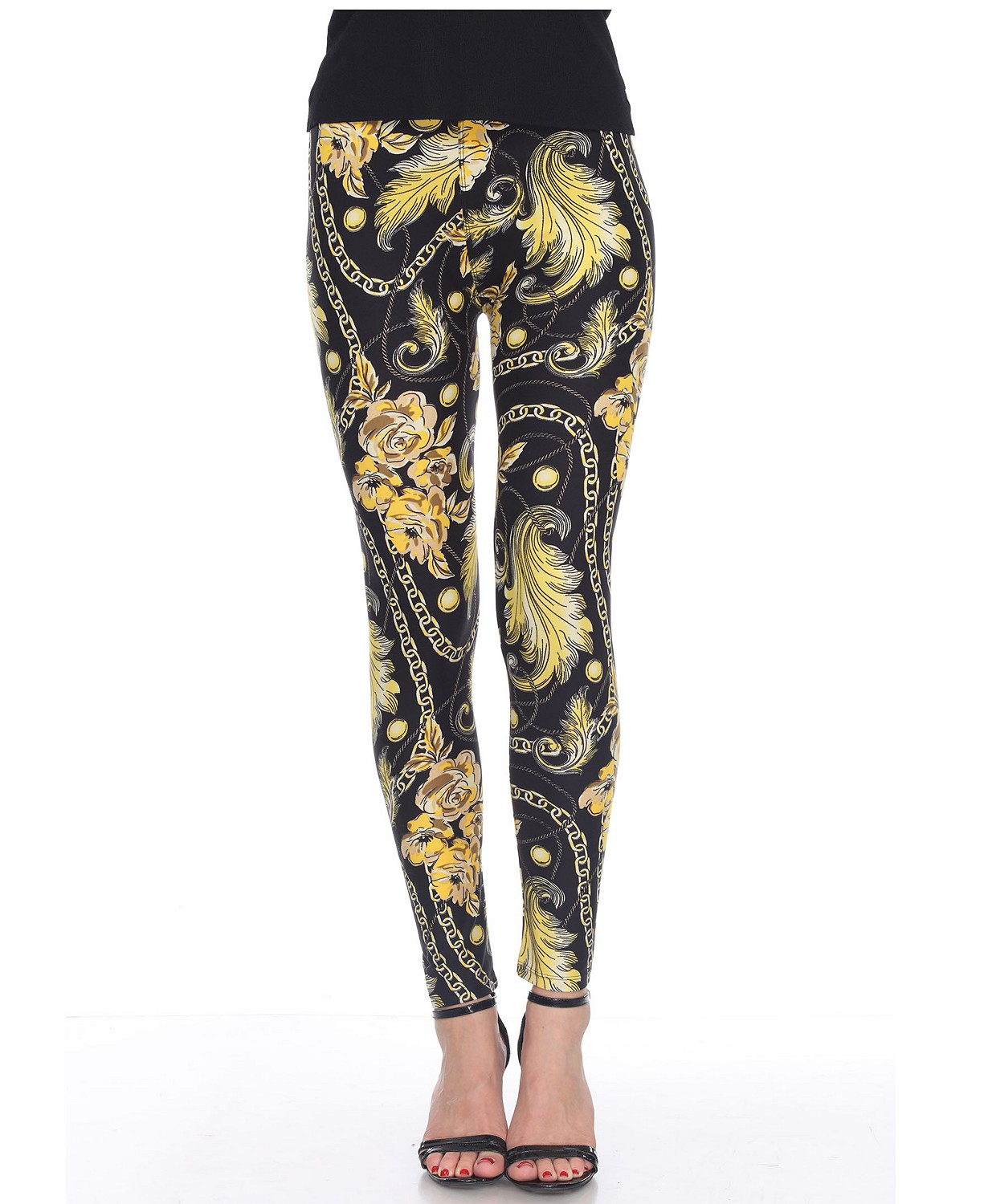 (30% OFF Deal) Women's One Size Fits Most Printed Leggings $9.80