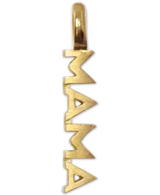 Mini Mama Charm Pendant in 14k Gold