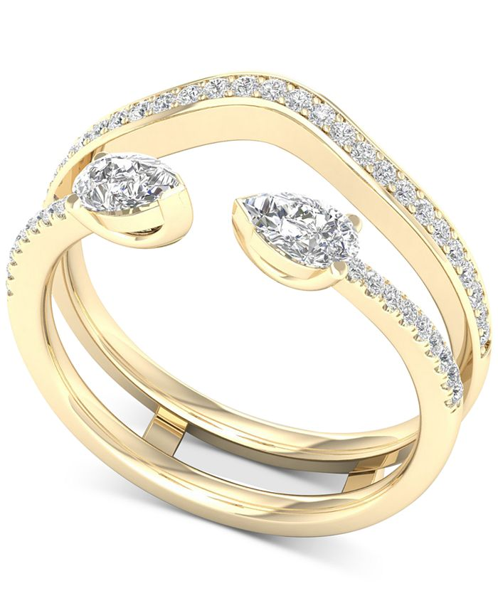 Macy's - Diamond Pear Enhancer Ring (1/2 ct. t.w.) in 14k Gold