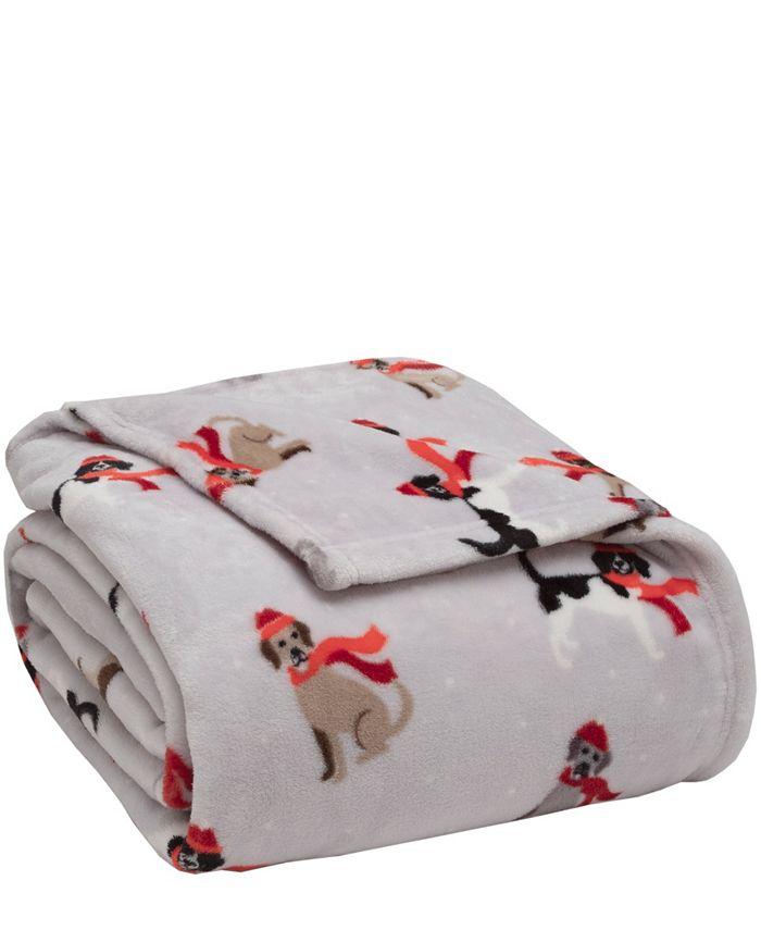 Elite Home - Winter Nights Plush Blanket, Full/Queen