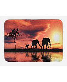 Ambesonne Elephant Bath Mat