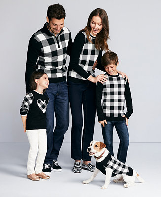 Charter Club Buffalo Check Family Sweaters Created For Macy S Reviews Sweaters Women Macy S
