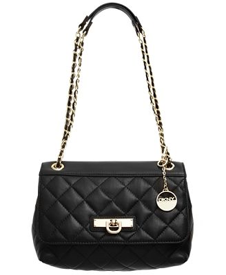 Dkny Quilted Nappa Flap Shoulder Bag 33