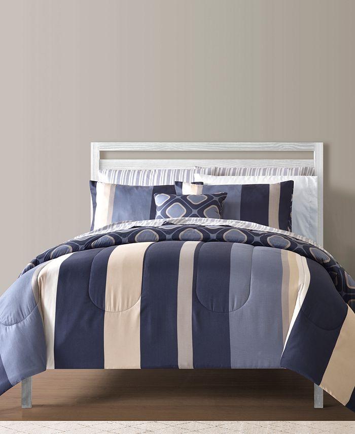 Sunham - Austin Reversible 12pc. Comforter Set