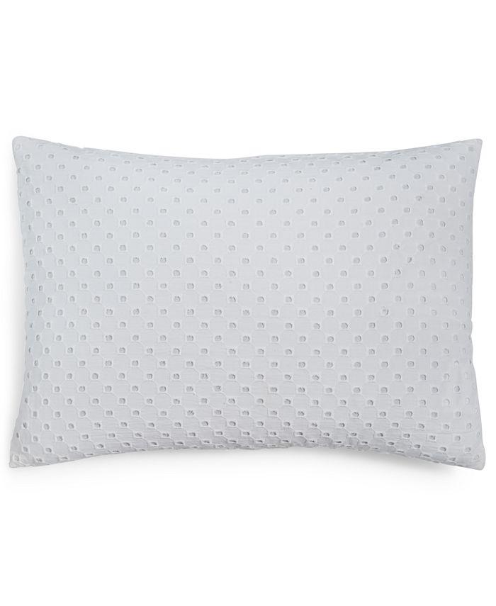 "Calvin Klein - Eyelet 14"" X 20"" Decorative Pillow"