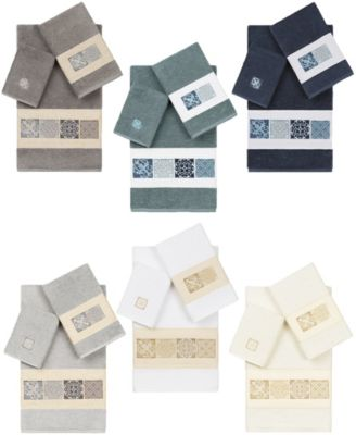 100% Turkish Cotton Vivian 3-Pc. Embellished Towel Set