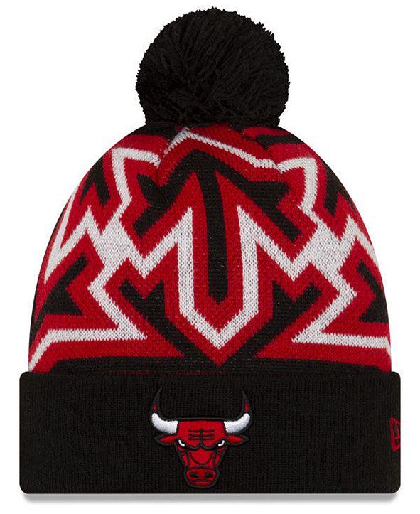 New Era Chicago Bulls Big Flake Pom Knit Hat