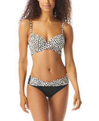 Leopard Printed Banded Bikini Bottoms