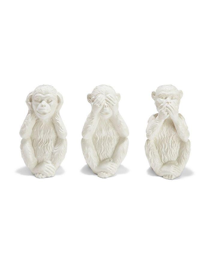 Two's Company - Set of 3 No Evil Monkeys  Ceramic