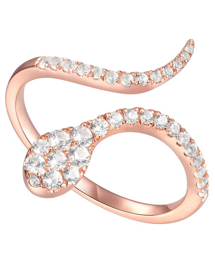 Macy's - 3/8 ct. t.w. Round Shape Diamond Ring in 14k Rose Gold
